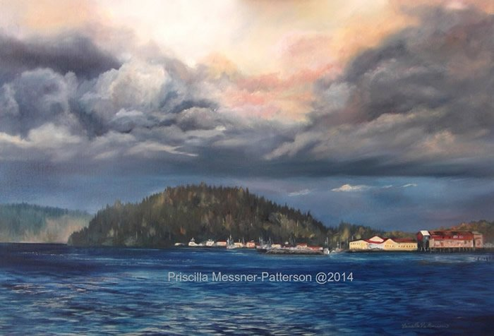 """Autumn Clouds, Tongue Point, Astoria, Oregon"""